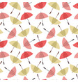colorful umbrellas seamless background pattern vector image vector image