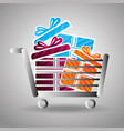 commercial labels design vector image vector image