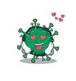 cute bat coronavirus showing falling in love face