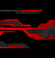 dark red and black technology grunge abstract vector image vector image