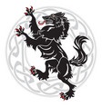 design werewolf and ornament vector image vector image