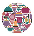 dishes cooking utensils and cutlery vector image vector image