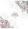 doodle sushi restaurant menu design template vector image vector image