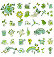 Ecology and recycle icons vector image