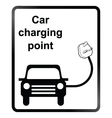 Electric Car Information Sign vector image vector image