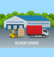 express delivery service flat design modern vector image