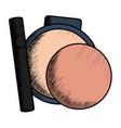 eyelash and blush make up drawing vector image