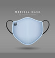 face mask light blue color realistic mock up vector image vector image