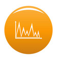 finance graph icon orange vector image vector image