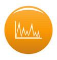 finance graph icon orange vector image