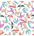 Flying swallows seamless pattern background vector image