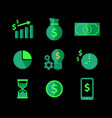 free-finance-and-revenue-icons vector image