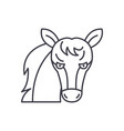 funny horse line icon concept funny horse vector image vector image