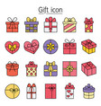 gift present boxes icon set filled outline style vector image