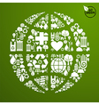 Global World in green icon set vector image