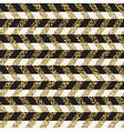 Golden chevron seamless pattern vector image vector image