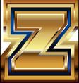 Golden Font Letter z vector image vector image
