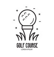 golf school or club logotype with ball vector image vector image