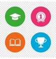 Graduation icons education book symbol