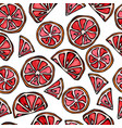 grapefruit seamless slices background pattern of vector image vector image