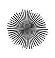 grunge burst stamp vector image
