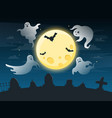 halloween creepy poster flying scare ghosts vector image