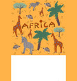 hand drawn doodle style africa vector image