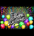 happy birthday typographic design for greeting vector image