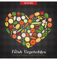 Heart Shaped Fresh Vegetables Poster vector image vector image