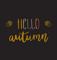 hello autumn lettering text vector image