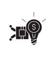 idea generation black concept icon idea vector image vector image