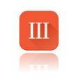 iii roman numeral orange square icon with vector image vector image