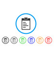 inventory pad rounded icon vector image