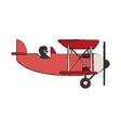 isolated plane design vector image vector image