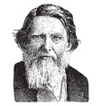 john ruskin vintage vector image vector image
