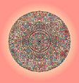 mandala pattern on pink background vector image vector image