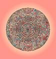mandala pattern on pink background vector image