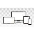 mock up set blank screens computer vector image