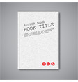 modern abstract book design template vector image
