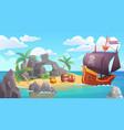 pirate island landscape vector image