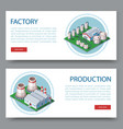 process factory technology plant set two flat vector image vector image