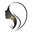 profile silhouette girl vector image
