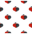 red industrial electric fan heater pattern vector image vector image