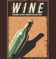 retro poster wine vector image vector image
