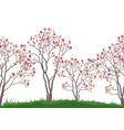 seamless background autumn trees vector image vector image