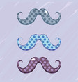 set diferent mustache decoration design vector image vector image