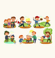 set happy fathers day greeting card dad fun with vector image