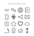 Set of simple social monochromatic icons vector image vector image