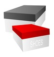 shoe boxes vector image vector image