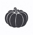 silhouette pumpkin with stem vector image